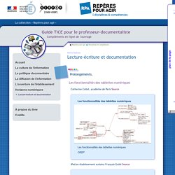Guide tice - Horizons numériques - Lecture-écriture et documentation