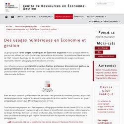 Des usages numériques en Économie et gestion