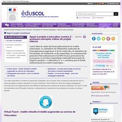 Appel à projets e-education : quelques exemples vidéos de projets numériques