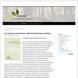 Les communs numériques : éléments d'économie politique