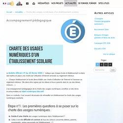 Charte des usages numériques d'un établissement scolaire - Délégation académique au numérique éducatif