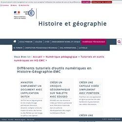 Tutoriels d'outils numériques en Histoire-Géographie-EMC