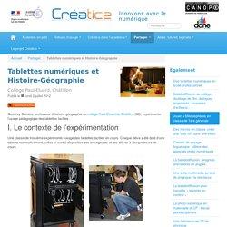 Tablettes numériques et Histoire-Géographie