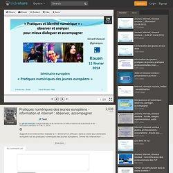 Pratiques numériques des jeunes européens - information et internet...