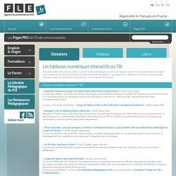 Les tableaux numériques interactifs ou TBI