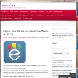 eClicker: créez des quiz numériques interactifs pour vos élèves!