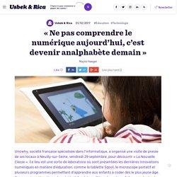 « Les outils numériques intéressent les enfants à l'école »