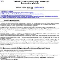 normes et standards des documents numériques : introduction