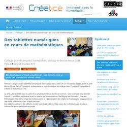 Des tablettes numériques en cours de mathématiques