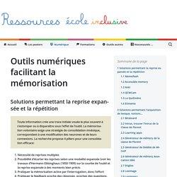 Outils numériques facilitant la mémorisation