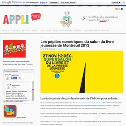 Les pépites numériques du salon du livre jeunesse de Montreuil 2013