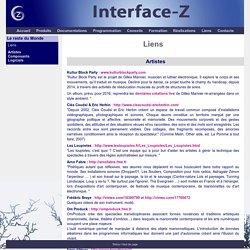 Interface-Z : Liens - Artistes et arts numériques, création, multimedia, logiciels temps réel.
