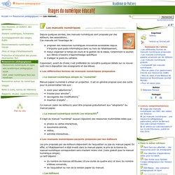 Les manuels numériques- Usages du numérique éducatif