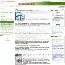 Aides aux devoirs numériques- Usages du numérique éducatif