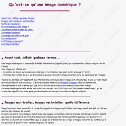 Images numériques: numérisation, création