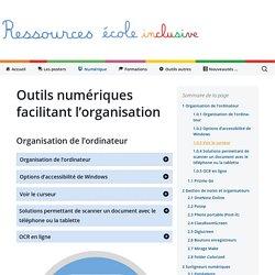 Outils numériques facilitant l'organisation