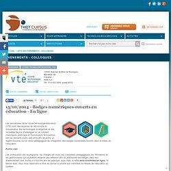 15/10/2014 - Badges numériques ouverts en éducation - En ligne