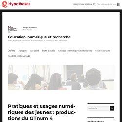 Pratiques et usages numériques des jeunes : un état de la recherche (2)