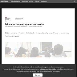 Les cultures numériques à l'École (productions du GTnum 5) – Éducation, numérique et recherche