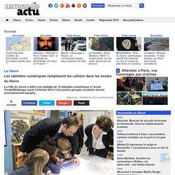 Les tablettes numériques remplacent les cahiers dans les écoles du Havre