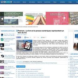 Pearson : Le livre et la presse numériques représentent un tiers du CA