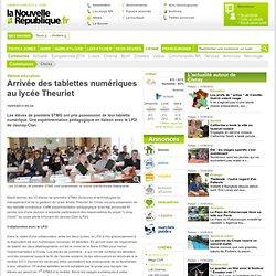 Arrivée des tablettes numériques au lycée Theuriet - 16/05/2013, Civray (86)