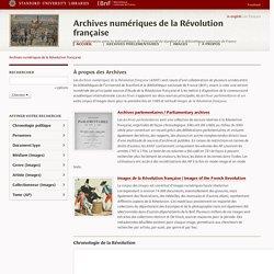 Révolution française : archives numériques (ANRF)