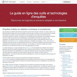 Enquêtes mobiles sur tablettes numériques et smartphones