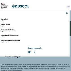 Créer un projet en sciences numériques et technologie