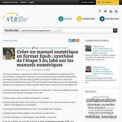 Créer un manuel numérique en format EPUB : synthèse de l'étape 3 du labo sur les manuels numériques