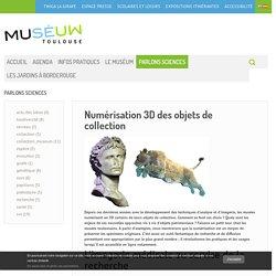 Numérisation 3D des objets de collection - PARLONS SCIENCES