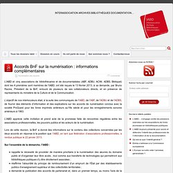 Accords BnF sur la numérisation : informations complémentaires