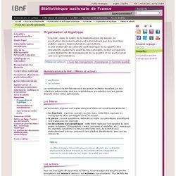 Numérisation à la BnF : filières et acteurs