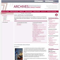 Archives numérisées