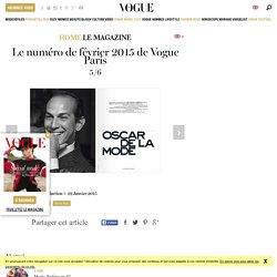 Le numéro de février 2015 de Vogue Paris avec Anna Ewers par David Sims