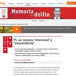 """Pi, un número """"irracional"""" y """"trascendente"""""""