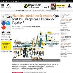 Numéro spécial sur le temps. Que font les Européens à l'heure de l'apéro ?
