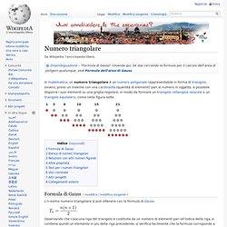 Numero triangolare