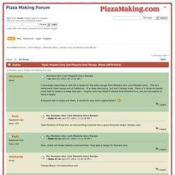 Numero Uno (not Pizzeria Uno) Recipe