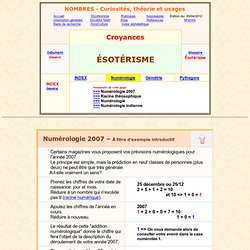numérologie, ésotérisme