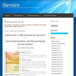 L'économie du savoir : ses composantes, ses dynamiques et ses enjeux