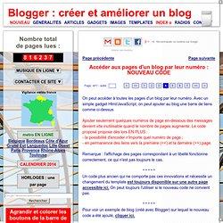 Blogger : numérotation des pages