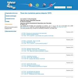 Espaces et Sociétés - Sommaire du n° 112