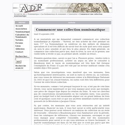 Commencer une collection numismatique - L'ASSOCIATION DES AMIS DU FRANC