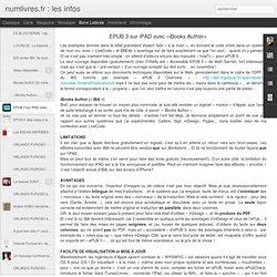 EPUB 3 sur iPAD avec «iBooks Author»