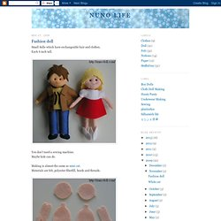 Flat Felt Fashion Dolls