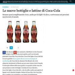 Le nuove bottiglie e lattine di Coca-Cola