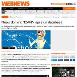 Nuovi domini: l'ICANN apre un database