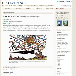 UFO 'battle' over Nuremberg, Germany in 1561 - Nuremberg, Germany - April 4,