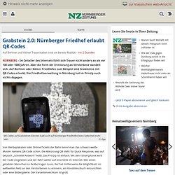 Grabstein 2.0: Nürnberger Friedhof erlaubt QR-Codes
